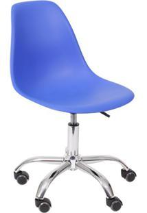 Cadeira Dkr Com Rodízios Azul Escuro
