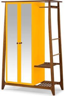 Armario Multiuso Stoka 2 Portas Amarelo Estrutura Amendoa 169Cm - 60972 - Sun House