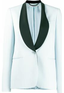 Stella Mccartney Blazer Com Lapelas Contrastantes - Azul