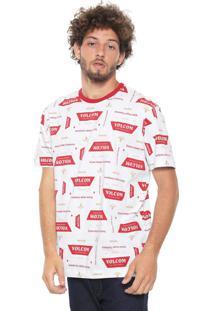 Camiseta Volcom Especial Garage Beers Branca