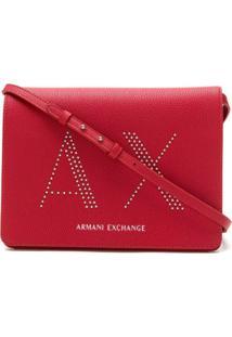 Armani Exchange Bolsa Tiracolo Com Aplicações - Vermelho