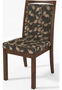 Cadeira Estofada Tecido Chenille Floral 15100 - Sun House