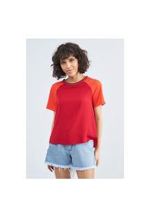 Blusa Reta Decote Canoa Lança Perfume Blusa Vermelho