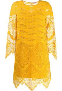 Twin-Set Vestido Crochet - Amarelo