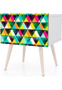 Criado Mudo Design Color Pes Palito 2 Gavetas - 31815 Sun House