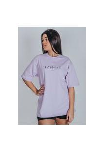 Camiseta Feminina Oversized Boutique Judith Fridays Lilás