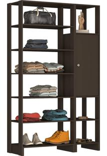 Guarda-Roupa Modulado Closet 103107 - Nova Mobile - Grafite Intenso