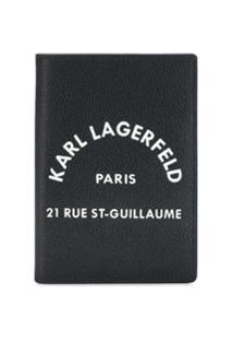 Karl Lagerfeld Carteira Rue St Guillaume - Preto
