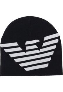 Emporio Armani Gorro Com Logo - Azul