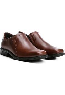 Sapato Social Couro Pegada Anilina - Masculino-Marrom
