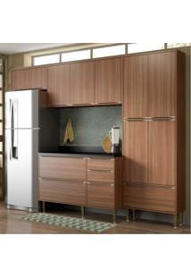 Cozinha Completa Multimóveis Com 5 Peças Calábria 5458 Nogueira