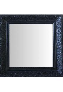 Espelho Moldura Rococó Fundo 16417 Preto Art Shop