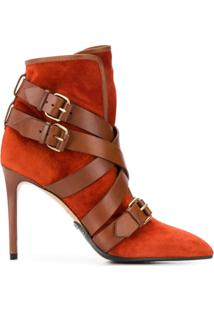 Balmain Ankle Boot 'Jakie' - Vermelho
