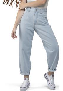 Calça Baggy Jeans Clara Azul