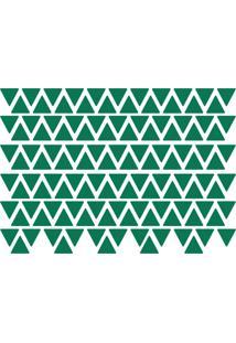 Adesivo De Parede Triângulos Verde Escuro 121Un