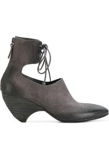 Marsèll Ankle Boot De Camurça E Couro 'Livellina' - Grey