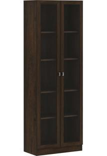 Armário Porta Vidro Rustico Tecno Mobili