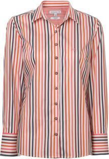 Camisa Dudalina Manga Longa Fio Tinto Feminina (Listrado, 56)