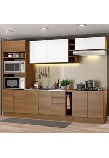Cozinha Completa Madesa Stella 290001 Com Armário E Balcão Marrom