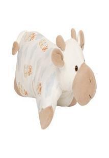 Travesseiro Girafinha Em Plush Com Estampa Balãozinhos Unissex - Anjos Baby Off-White