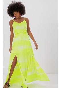 Vestido Longo Em Neon