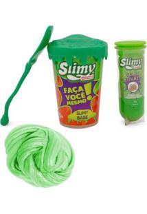 Kit De Acessórios - Faça Seu Slimy - Série Verde E Geleca Slimy Metalizado - Verde - Toyng