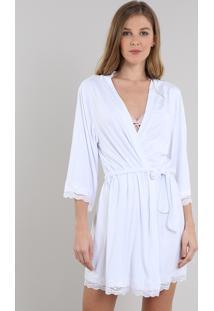 Robe Feminino Bride Com Renda Branco