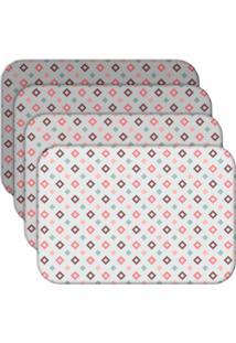 Jogo Americano Love Decor Quadrados Kit Com 4 Peças