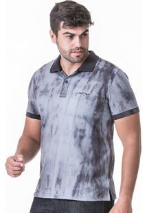 Camisa Polo Tie Dye Cinza.
