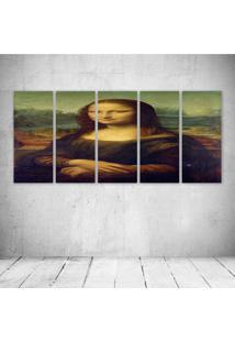 Quadro Decorativo - Mona Lisa - Composto De 5 Quadros