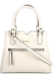 Bolsa Capodarte Handbag Média Relax Feminina - Feminino-Off White
