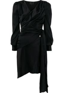 Philipp Plein Vestido Envelope Com Barra Assimétrica - Preto