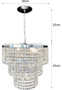 Lustre Pendente De Cristal Legítimo K9 Lina Design Ac58