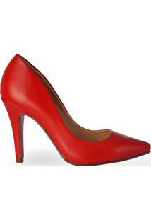 Scarpin Clássico Fosco Vermelho