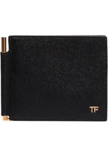 Tom Ford Carteira Com Placa De Logo - Preto