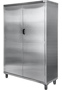 Armário Vertical De Materiais De Limpeza Avdml Aço Inox 430 Atual Inox