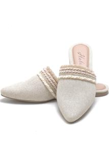 Sapatilha Mulle Bico Fino Sb Shoes Ref.10320 Juta/Nude