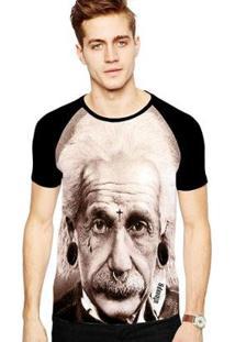 Camiseta Stompy Raglan Modelo 63 Masculina - Masculino-Preto