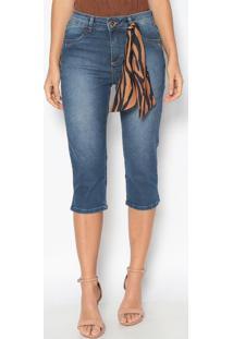 Bermuda Jeans Estonada- Azul- Gata Bakanagatabakana