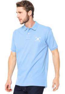 Camisa Polo Polo Play Reta Logo Azul