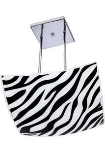 Pendente Quadrado Grande Zebra Preto Attena