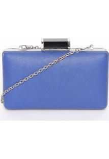 Clutch Lisa - Azul Escuro & Prateada - 12X18X3X68Cmcanal