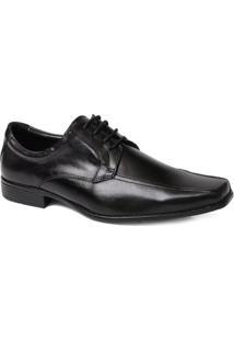 Sapato Social Masculino Em Cadarco Couro - Masculino-Preto