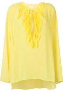 Giamba Blusa Com Tassel - Amarelo