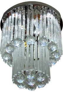Lustre De Cristal Diamante 1503/300 Redondo 184W Bivolt Prata