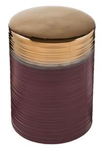 Banco Byhaus Mileto Em Cerâmica - Vinho
