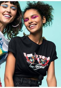 T-Shirt Carnaval Em Malha De Algodão Com Estampa Localizada