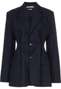 Jacquemus Pinched Detail Blazer - Azul