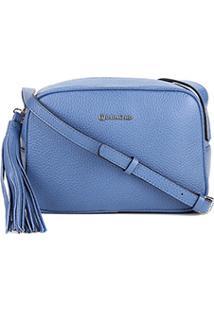 Bolsa Couro Dumond Mini Bag Barbicachos Feminina - Feminino-Azul