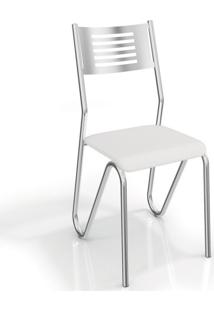 Cadeira Nápoles 2 Peças Crome Branco